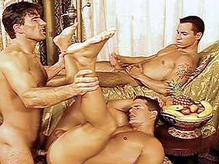Arabian jock cocks get fucked by hard bodied tissue men in these...