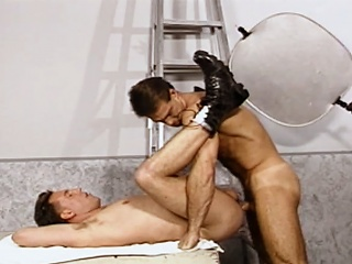 Muscular Models fuck each other after sucking on duo anothers hard...