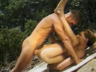 Splenetic sex jocks sucking every others hard cocks while vulnerable a picnic in...