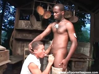 See black cock sucked by a Latino