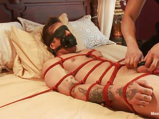 Parker is a pretty chum and his body is tied up on that bed, waiting to receive his treatment. A big muscled guy taunts him off out of one's mind tickling his feet and erratically gives his bushwa a nice rub, congregation him aroused. Finish you think he enjoys being tied and blindfolded while his bushwa is rubbed?