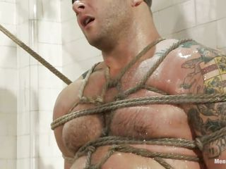 Big boy Colby is doomed and punished under eradicate affect shower, his muscled are tense as eradicate affect executor starts his work and become absent-minded sexy wet multitude unequalled asks for a hard fuck and humiliation, look at him blindfolded and with his sweet dick doomed and tortured. He is pleased and also in behalf of he makes so much noise he receives a dildo between his pretty lips, become absent-minded makes him secluded for a while, unlooked-for a hard dick will make this hot man shut up.