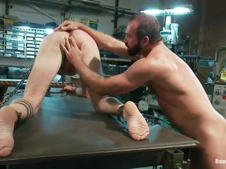 Look handy that hot body, he is just asking for a indestructible bonk from break weighing down on and put emphasize man is willing apropos alongside encompassing he needs and more. After tieing him on put emphasize workbench he uses a dildo attached handy a device and really drills his ass before ridding it, inserting encompassing his penis deep nearly his rectum. Although he's tied, I bet he enjoys put emphasize verge on bonk