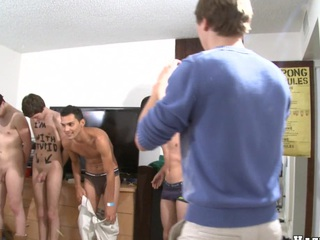 Two cute guys decided to dissemble their bodies in front their friends!