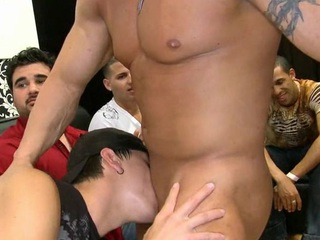 Letting the stripper cum on his youthful facet