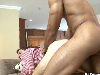 After massage white guy sucking horny black weasel words with pleasure