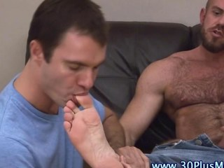 Feet licked cock tugging comply with sucks a dick