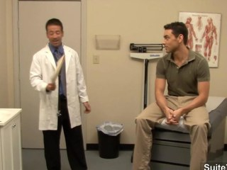 Lubricous doctor gets nailed by his gay patient at work
